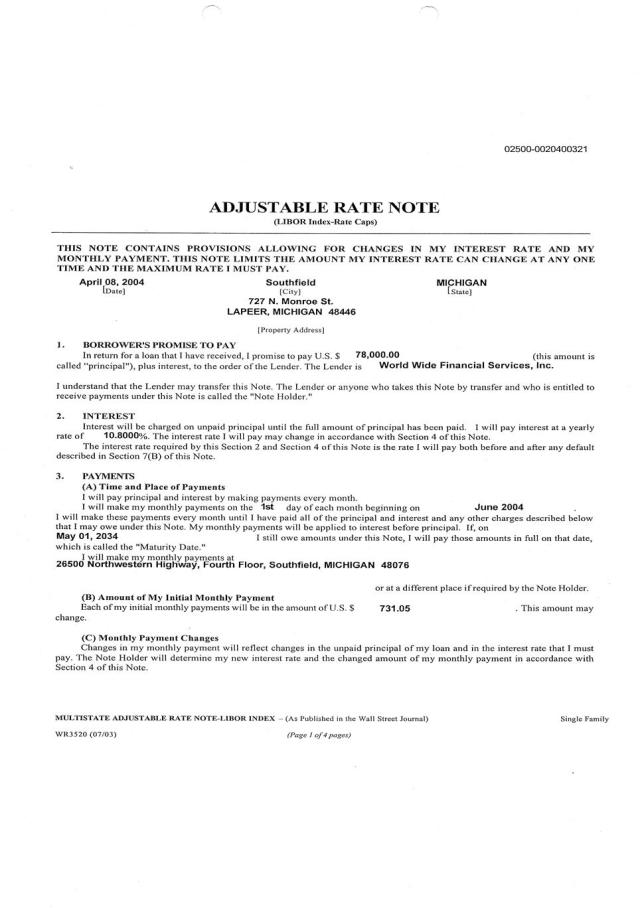 "(1) Our Original ""Wet-Black Ink"" Document that is still in our attorney's possession.Page 1"